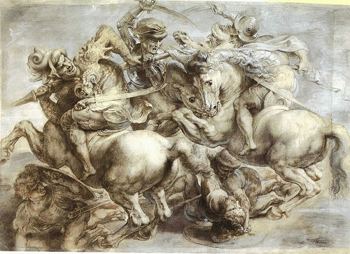 800px-Arezzo_anghiari_Battle_standard_leonardo_da_vinci_paint.jpg